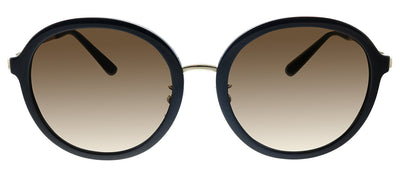 Tory Burch TY 9058 179113 Round Plastic Black Sunglasses with Brown Gradient Lens
