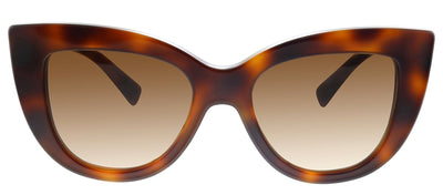 Valentino VA 4025 501113 Cat-Eye Plastic Havana Sunglasses with Brown Gradient Lens
