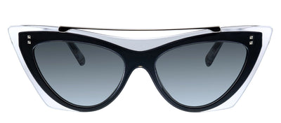 Valentino VA 4041 509987 Cat-Eye Plastic Black Cryastal Sunglasses with Grey Lens
