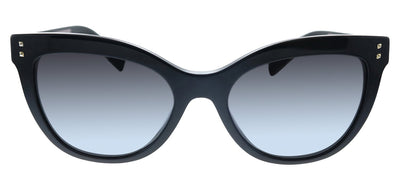 Valentino VA 4049A 50018G Cat-Eye Plastic Black Sunglasses with Black Gradient Lens