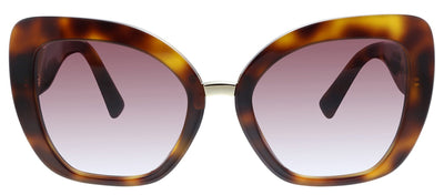Valentino VA 4057 50118H Butterfly Plastic Havana Sunglasses with Purple Gradient Lens