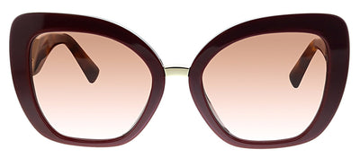 Valentino VA 4057 513913 Butterfly Plastic Burgundy Sunglasses with Brown Gradient Lens