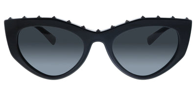 Valentino VA 4060 500187 Cat-Eye Plastic Black Sunglasses with Grey Lens