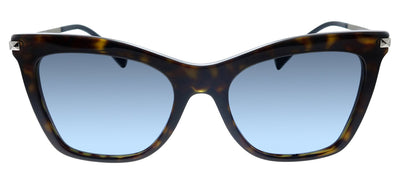 Valentino VA 4061 50028F Cat-Eye Plastic Havana Sunglasses with Blue Gradient Lens