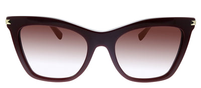 Valentino VA 4061 51398D Cat-Eye Plastic Burgundy Sunglasses with Pink Gradient Lens