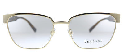Versace VE 1264 1460 Oval Metal Gold Eyeglasses with Demo Lens