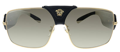 Versace VE 2207QA 1002/5 Square Metal Gold Sunglasses with Gold Mirror Lens