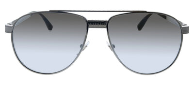 Versace VE 2209 10016V Oval Metal Gunmetal Sunglasses with Silver Mirror Lens