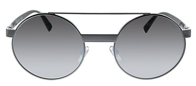Versace VE 2210 10016G Round Metal Gunmetal Sunglasses with Silver Mirror Lens