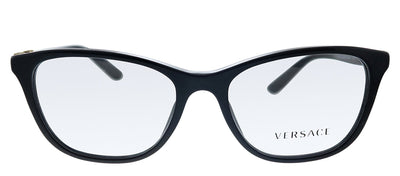 Versace VE 3213B GB1 Cat-Eye Plastic Black Eyeglasses with Demo Lens