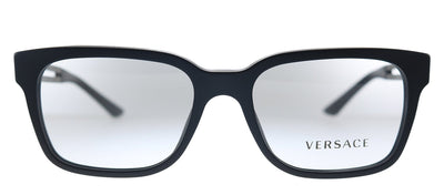 Versace VE 3218 5122 Square Plastic Matte Black Eyeglasses with Demo Lens