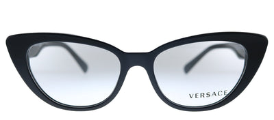 Versace VE 3266 GB1 Oval Plastic Black Eyeglasses with Demo Lens