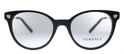 Versace VE 3291 GB1 Oval Plastic Black Eyeglasses with Demo Lens