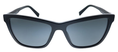 Versace VE 4354B GB1/87 Cat-Eye Plastic Black Sunglasses with Grey Lens