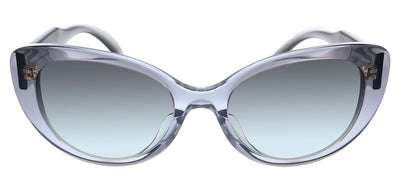 Versace VE 4378F 593/11 Cat-Eye Plastic Transparent Sunglasses with Grey Gradient Lens