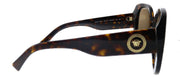 Versace VE 4387 108/73 Rectangle Plastic Havana Sunglasses with Brown Lens