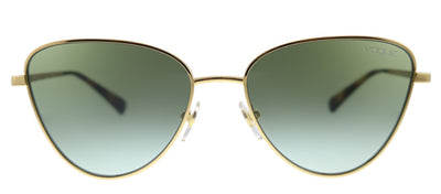 Vogue Eyewear VO 4145SB 280/8E Aviator Metal Gold Sunglasses with Green Gradient Lens