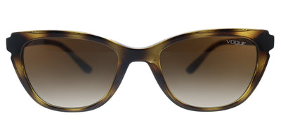 Vogue Eyewear VO 5293S W65613 Cat-Eye Plastic Havana Sunglasses with Brown Gradient Lens