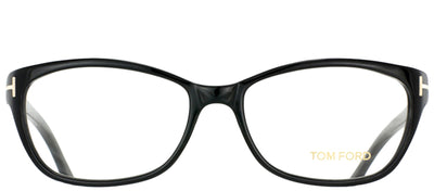 Tom Ford FT 5142 001 Rectangle Plastic Black Eyeglasses with Demo Lens