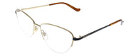Gucci GG 0580O 001 Cat-Eye Metal Gold Eyeglasses with Demo Lens