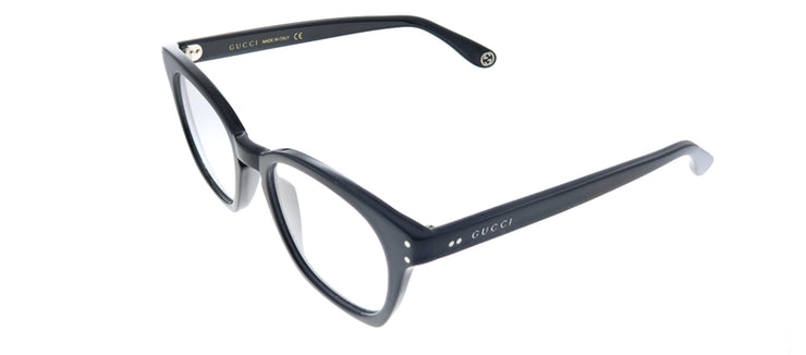 Gucci GG 0572O 006 Square Plastic Black Eyeglasses with Demo Lens