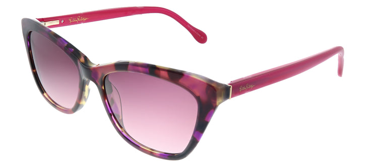 Lilly Pulitzer LP Britta PK Cat-Eye Plastic Pink Sunglasses with Pink Gradient Lens