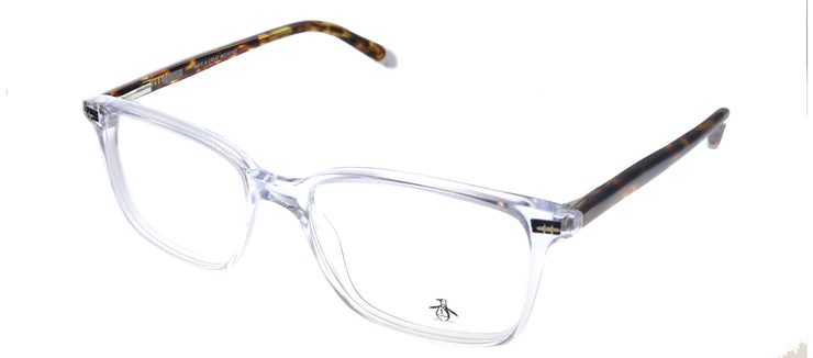 Original Penguin PE Leopold CR Rectangle Plastic Clear Eyeglasses with Demo Lens
