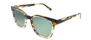 Original Penguin PE Suspender BR Square Plastic Tortoise/ Havana Sunglasses with Green Polarized Lens
