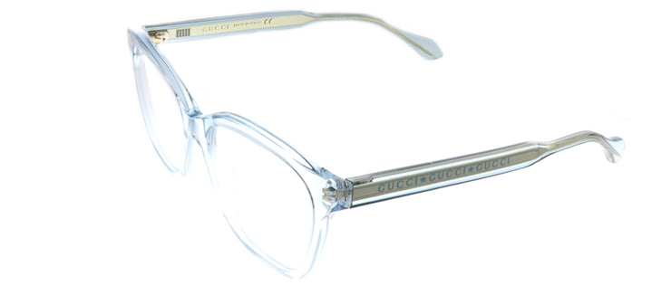 Gucci GG 0566O 003 Square Plastic Blue Eyeglasses with Demo Lens