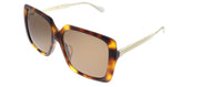 Gucci GG 0567SA 002 Square Plastic Tortoise/ Havana Sunglasses with Brown Lens