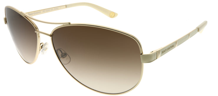 Juicy Couture JU 554 3YG Aviator Metal Gold Sunglasses with Brown Gradient Lens