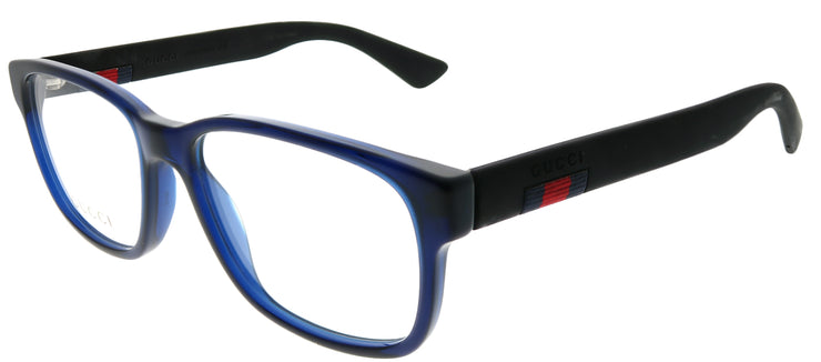 Gucci GG 0011O 004 Square Plastic Blue Eyeglasses with Demo Lens