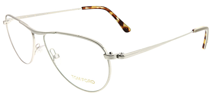 Tom Ford FT 5210 016 Aviator Metal Silver Eyeglasses with Demo Lens