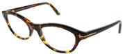 Tom Ford FT 5423 052 Cat-Eye Plastic Tortoise/ Havana Eyeglasses with Demo Lens