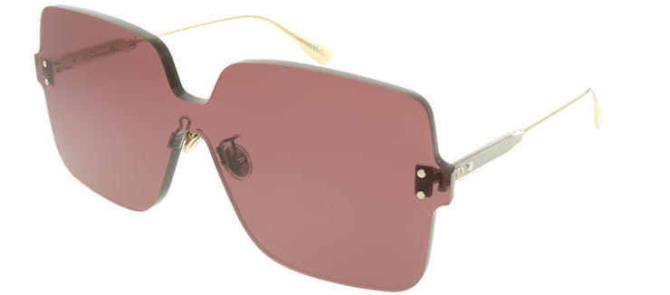 Dior CD ColorQuake1 LHF U1 Square Plastic Burgundy/ Red Sunglasses with Pink Lens