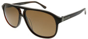 Chesterfield CH 04S 0WR9 Aviator Plastic Brown Sunglasses with Brown Polarized Lens