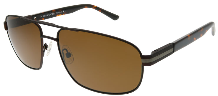 Chesterfield CH 05S 04IN Aviator Metal Brown Sunglasses with Brown Polarized Lens