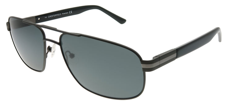 Chesterfield CH 05S 0R81 Aviator Metal Ruthenium/ Gunmetal Sunglasses with Grey Polarized Lens
