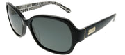 Kate Spade KS Akira/P 9KQ RA Rectangle Plastic Black Sunglasses with Grey Polarized Lens