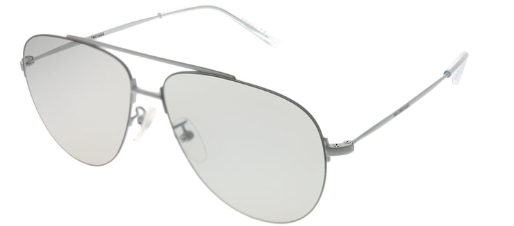 Balenciaga BB 0013S 006 Aviator Metal Ivory/ White Sunglasses with Grey Mirror Lens