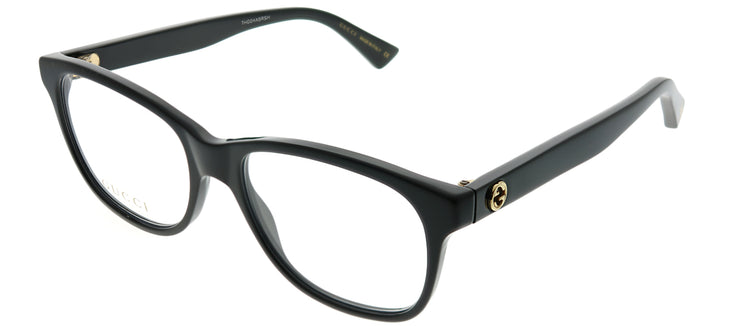Gucci GG 0166O 001 Rectangle Plastic Black Eyeglasses with Demo Lens