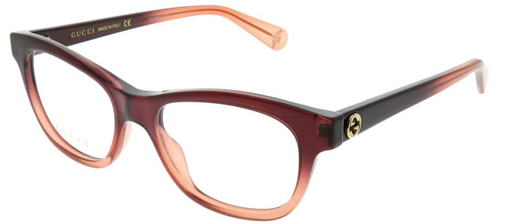 Gucci GG 0372O 003 Rectangle Plastic Brown Eyeglasses with Demo Lens