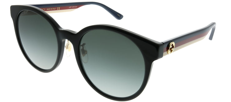 Gucci GG 0416SK 001 Round Plastic Black Sunglasses with Grey Gradient Lens