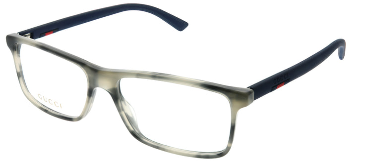 Gucci GG 0424O 003 Rectangle Plastic Grey Eyeglasses with Demo Lens