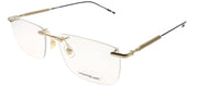 Montblanc MB 0049O 005 Rimless Metal Gold Eyeglasses with Demo Lens