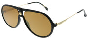 Carrera CA Carrera1020 807 K1 Aviator Plastic Black Sunglasses with Gold Lens