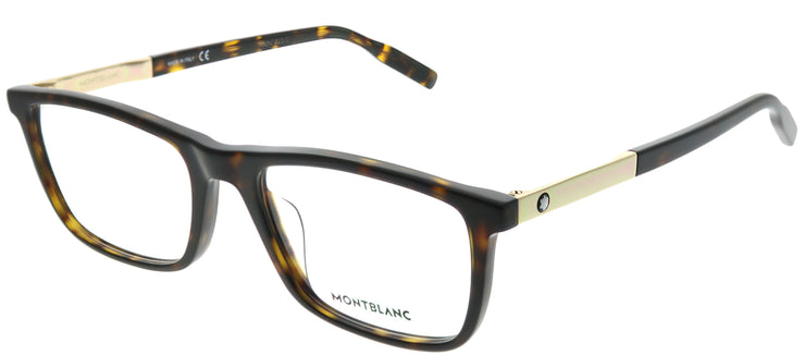 Montblanc MB 0021O 002 Rectangle Plastic Tortoise/ Havana Eyeglasses with Demo Lens