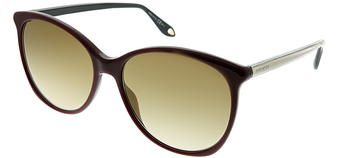 Givenchy GV 7095 C9A Oval Plastic Burgundy/ Red Sunglasses with Brown Photochromatic Lens