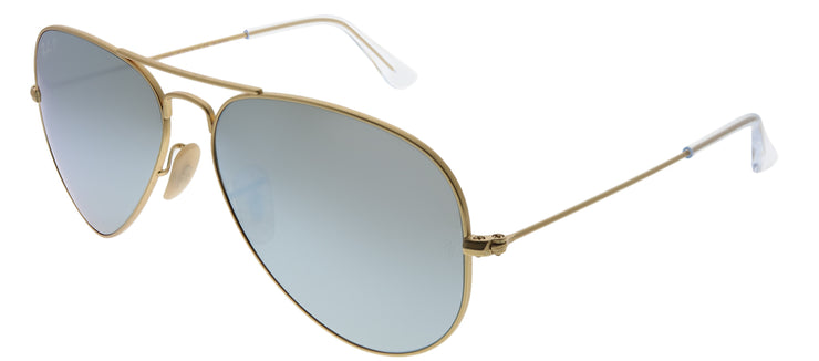 Ray-Ban RB 3025 112/W3 Aviator Metal Gold Sunglasses with Blue Mirror Polarized Lens