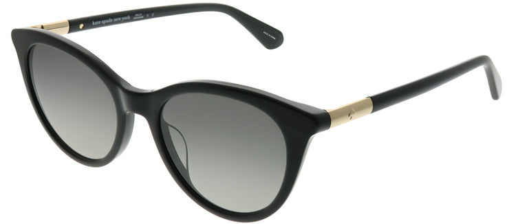 Kate Spade KS Janalynn 807 WJ Cat-Eye Plastic Black Sunglasses with Grey Polarized Lens
